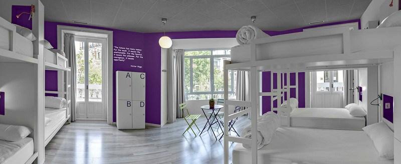 U hostels un hotel bonito y barato en madrid byhome for Hostal diseno madrid
