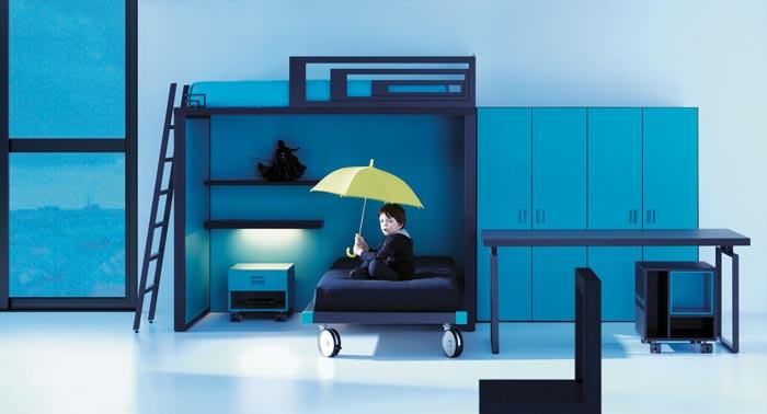 Literas de lagrama el espacio importa byhome - Dormitorios infantiles dos camas ...