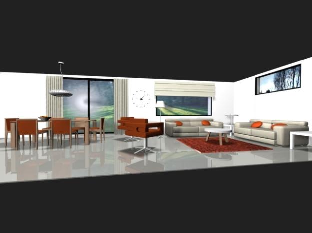 Vista L mesa y sofá