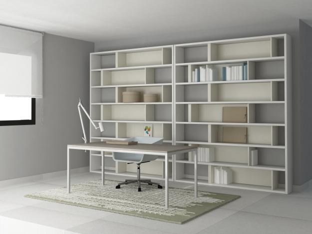 Una casa de luz blanca en mallorca byhome - Librerias salon blancas ...
